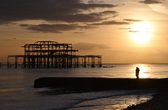 Brighton 20 March 2018 038 (paul_appleyard) Tags: brighton beach sunset dusk evening endoftheday end golden pier west ruin abandoned crumbling sky silhouette solitary old seaside ohidoliketobebesidetheseaside