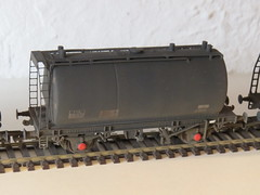Bachmann OO Gauge Scratch built Commision TTA Bitumen Tanks in different companies all with different modified etched brass walkways and Conical coned ends (37686) Tags: bachmann oo gauge scratch built commision tta bitumen tanks different companies all with modified etched brass walkways conical coned ends
