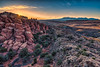 Sandstone Sunrise.  Morning breaks over the narrow canyons and towering red cliffs known as the Firey Furnace section of Arches National Park near Moab, Utah (diana_robinson) Tags: sandstonesunrise sunrise dawn sunburst morningbreaking narrowcanyons sandstone toweringredcliffs fireyfurnace archesnationalpark moab utah arches desert scenery landscape