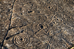 Cups, rings and incomplete ring. (AJ Mitchell) Tags: petroglyph rockart cupsandrings coupelle concentric neolithic chalcolithic prehistoric bronzeage argyll scoltland uk britishisles highlands