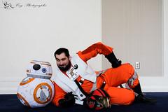 Sexy BB-8... and Poe (Coy Photographs) Tags: star wars starwars force awakens forceawakens lightsaber general hux generalhux imperialsoldier cosplay rebels rebel sexy poe sexypoe bb8 hugs naka nakakon2018 nakakon