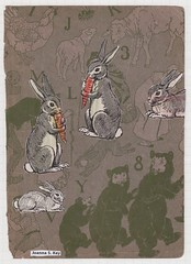 Carrots (Joanna Key) Tags: rabbits carrots collage animalart easter bears bunny