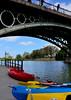 Under the bridge ... (Raquel Borrrero) Tags: puente de triana isabel sevilla andalucía españa spain boat river bridge río guadalquivir kayak agua water remos bote árbol trees nikon d3200