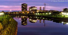 Columbus, Ohio Downtown (vdwarkadas) Tags: columbus ohio downtown bridge river reflections sony sonya6000 sonyilce6000 nightscape night sciotoriver water building