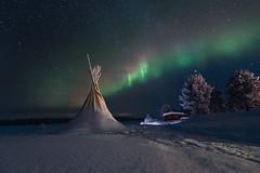 Iconic Lapland (jeanjoaquim) Tags: northern light sky snow winter wonderland nisinaturalnightfilter ngc