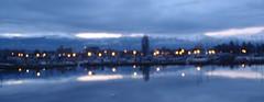 Blue Hour Bokeh Blur ... (Mr. Happy Face - Peace :)) Tags: sky cloud sun lake bc kelowna archives snowcaps bluehour brokeh