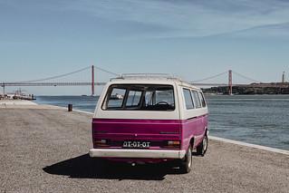 Portugal, Lissabon (Lisbon, Lisboa), VW Bus