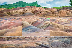 Seven Coloured Earths of Chamarel [collage]