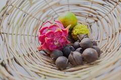 Cane fruit basket (burntfeather) Tags: weaving caneplatter rattan diy fruitbasket platter basket cane basketmaking