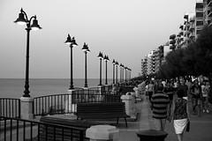 Sliema (petia.balabanova(tnx for +3 million views)) Tags: blackandwhite monochrome malta sliema travel sea people lights promenade nikond800 50mm street city