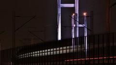missing train (dtankosic) Tags: motion belgrade train bridge sava river night exposure light manual citylights traffic serbia