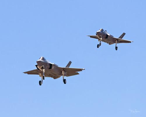 """Two-Fer Tuesday""  Pair of Lockheed Martin F-35 Lightning II on final for Luke Air Force Base, Glendale Arizona"