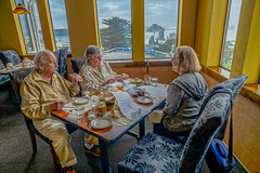 Our Corner Table--DSC08500--Bandon, OR (Lance & Cromwell back from a Road Trip) Tags: lordbennettsbandon lordbennetts restaurant bandon cooscounty oregon oregoncoast pacific ocean sony sonyalpha a7s 24240mmlens 24240mm emount 2018 birthday