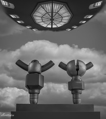 Resistance is Futile (Donna Brittain - See what I see) Tags: composite wingnuts sciencefiction building oscc spaceship bolts torontoontariocanada excursion monochrome robots donjail history architecture blackandwhite bw fantasy challenge rain 7dwf