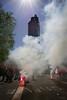 """""""GREVE"""" au pied de la tour de Bretagne, """"symbole de la puissance économique"""" de la ville de #Nantes lors de la #manif19avril... (ValK.) Tags: macron manifestation nantes politique valk cassesociale droitssociaux social"""