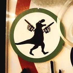 #1 Sports Fan Dinosaur (Fred:) Tags: fletcher stickers franksignatra fletchermtl signderella frank signatra red circle line through slash symbol logo parody fake defense prohibition interdit interdiction sign prohibited défendu collant sticker autocollant stickerart montreal streetart artist street art montréal pictogramme pictogrammes pictogram pictograms stick figures dinosaur dino dinosaure sports fan foam finger fingers slap slaps stickerslap
