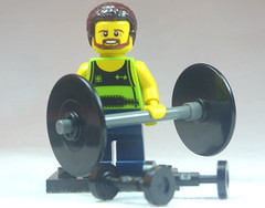 Brick Yourself Custom Lego Figure Enthusiastic Weightlifter