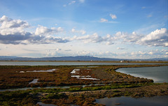 Horizons (angelsgermain) Tags: delta river water land lagoon hills sky clouds horizon depth light deltadelebre montsià catalonia catalunya