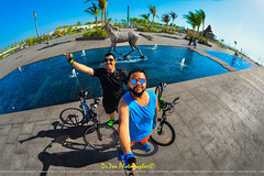 Riding My Bicycle Makes Me Feel Good 🚴‍♂️ (dr.7sn Photography) Tags: trek trekverve3 vreve verve3 hydro hydroblue hydra hailhydra hdr hassan happy saudi saudiarabia smile street summer sea sunglasses selfie sky tree blue beach brother horse