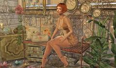 Golden Garden (Hopathia Shinobu) Tags: aria collabor88 dahlia dysfunctionality half moon illuminate imaginarium juju liaison collaborative myrrine nanika narcisse puke rainbows skinnery swallow the loft tram