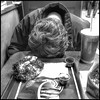 Grace (Mister Day) Tags: grace lunch fastfood bnw documentary