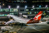 turnaround of flight qf74 for the overnight haul back to sydney (pbo31) Tags: bayarea nikon d810 color night dark black march 2018 winter boury pbo21 over red sanfranciscointernational qantas 747 boeing terminal airport aviation airline travel millbrae gate sanmateocounty flight sydney plane sfo tail turnaround preflight