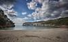 (147/18) Un lugar asombroso (Pablo Arias) Tags: pabloarias photoshop photomatix capturenxd españa cielo nubes bahía mar agua mediterráneo paisaje arena playa roca costa árbol cala macarella menorca