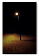 Street Light (blueP739) Tags: olympus om4 om1n olympusom om3ti om2sp om10 om1 om2n om3 om olympusom1 orange olympusplustekplustek7200om4 plustek7200 pussy plustek snow streetphotography night whitelies lyrics silkingrad footprints
