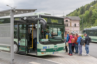 Linienbus in Bad Schandau