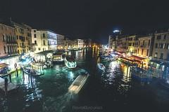 Rialto bridge (Flavia-cyb) Tags: venezia venice rialto ponte bridge light night shadow water boats barche canale amazing travel travelling canon60d flickrunitedaward