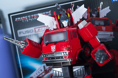 DSC_8078 (Quantum Stalker) Tags: takara tomy hasbro transformers masterpiece g1 inferno firetruck fuso t951 extinguisher communicator elegant hose animation cartoon chromed
