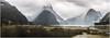 Dream! (MilesAnderson) Tags: lake water idyllic fiordland landscape reflections foggy fog cloud mountains calm peaceful moody daytime beautiful dream dynamic wonder seascape fjord milford sound new zealand travel