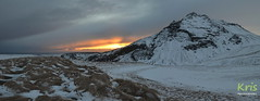 Setting sun adds colour to the sky (Iceland) (|kris|) Tags: landscape iceland europe mountain plateau sunset sun clouds golden rays winter snow ice grass dark gloomy kris panorama hike sky sunlight nature apocalyptic evening horizon atmosphere dusk cloud dawn darkness twilight orange south