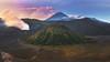 Indonesia - Bromo Sunrise (030mm-photography) Tags: rot indonesien indonesia mountbromo gunungbromo tengger massiv caldera vulkan volcano bromo sonnenaufgang sunrise panorama landschaft landscape natur nature reise travel java jawa gebirge berge bergmassiv aktiv asien südostasien asia southeastasia