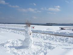 Orchard Beach Snowman (Stanley Zimny (Thank You for 30 Million views)) Tags: winter seasons snow snowman orchardbeach bronx