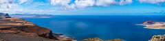 View from 'Mirador del Rio' - Lanzarote, Canary Islands (dejott1708) Tags: lanzarote panorama landscape mirador del rio la graciosa timanfaya ocean sea coast coastline