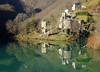 Il borgo sul lago (Darea62) Tags: village lake nature reflections landscape isolasanta careggine garfagnana tuscany toscana river water trees borgo ancient history towerbell green panorama paesaggio