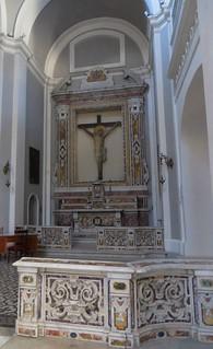 Autel secondaire, basilique Santa Maria della Sanità (XVIIe), piazza Sanità, Naples, Campanie, Italie.