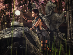 αятεмıƨ (♣♦ Lilly von Nekro ♦♣) Tags: fantasy firestorm fashion life mystical mystic moon girls art dark babes nature 3d woods second illustration people pose sl