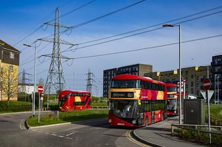 Go Ahead London LT946 LTZ2146 route EL1 Barking Riverside