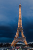 The Eiffel Tower at blue hour (Julien CHARLES photography) Tags: eiffel eiffeltower europe france hdr paris bluehour capital capitale cloud cloudy longexposure lumièrebleue night nuit poselongue sky sparkling tower