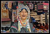 Akha Hill Tribe woman (meren34) Tags: thailand hill tribe women life traditional akha changmai north dress colors village seller shop tour travel coin ornament jewelery tooth brown face poster portre bead necklace bag saddlebag woman country