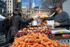 Greenmarket (dtanist) Tags: nyc newyork newyorkcity new york city sony a7 konica hexanon 40mm manhattan market greenmarket farmers grocers grocery groceries stalls vendors