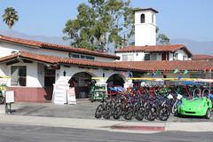 Santa Barbara (davidjamesbindon) Tags: town america states united usa california barbara santa street road bikes building