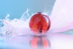 Magic crystal (victoriameyo) Tags: marble globe onceuponatime macromondays sphere object stilllife beauty stars macro ball red fairy magic crystal