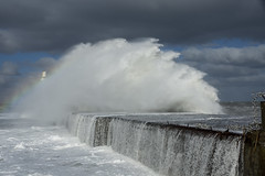 Stormy Waters (steve_whitmarsh) Tags: aberdeen scotland storm water sea ocean splash harbour wall waves abigfave