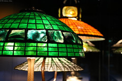 Works of Louis Comfort Tiffany (Can Pac Swire) Tags: usa us unitedstates america american newyork city manhattan upperwestside museum historical society 170 centralparkwest tiffany glass lamp lampshade collection dregonneustadt vibrant colorful colourful 2018aimg7401 stained louis comfort