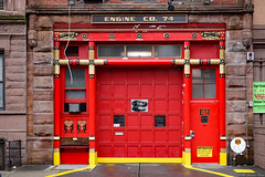 FDNY Engine Co. 74 (Canadian Pacific) Tags: usa us unitedstates america american newyork city manhattan upperwestside red fire station hall 74 co company 120 w west 83rd street st 2018aimg7334 chinese orientalism art motif