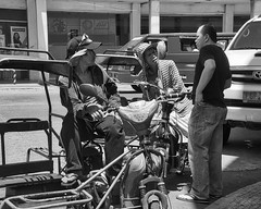 Negotiation (Beegee49) Tags: men discussing negotiating price pedicab public transport bacolod city philippines