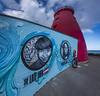 DSC_8663-WarpedWideLighthouse (RobNDub) Tags: ultrawideangle wideangle graffiti dublin pool beg lighthouse sea rock sunset mountain bike poolbeg